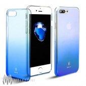 Baseus Glaze Mavi İphone 7 Plus İphone 8 Plus Kılıf Arka Koruyu