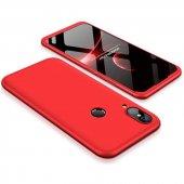 Huawei P20 Lite 360 Kırmızı Full Koruma Kılıf Arka Koruyucu Kapak