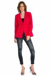 Kırmızı Beli Bağlamalı Ceket 19k0155061