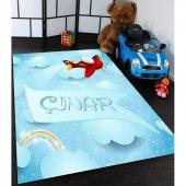 Isimli Uçaklı Çocuk Odası Halıları