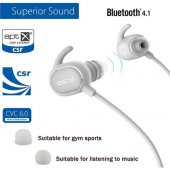Qcy Qy19 V4.1 Bluetooth Spor Kulaklık Beyaz