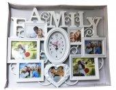 Aile Dekoratif Saat 69x48 Cm Fotoğraf Çerçevesi