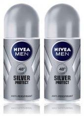 Nivea Deo Roll On Erkek Deodorant Silver Protect 50ml 2 Adet