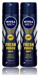 Nivea Sprey Erkek Fresh Power Boost Mistik 2 Adet