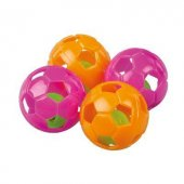 Polo Zilli Kedi Oyun Futbol Topu Renkli 4 Cm