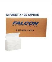 Falcon & Insoft Naturel Z Katlama Havlu 125 � Yaprak (12 Paket)