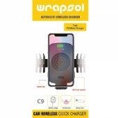 Wrapsol C9 Hızlı Wireless Araç Şarjı Ve Tutucu