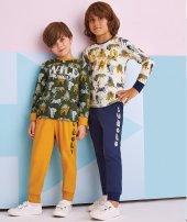 Rolypoly 5 8 Yaş Erkek Çoc Pijama Tak. Yeşil 1306