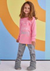 Rp 1378 Kız Çocuk Pijama Takımı Pembe 1 4 Yaş