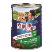 Miglior Cane Biftekli Sebzeli Köpek Konserve Maması 405gr