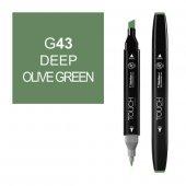 Touch Twın Marker G43 Deep Olıve Green