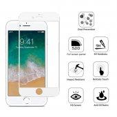 Iphone 8 Beyaz 5d Kırılmaz Ekran Koruyucu Premium Glass