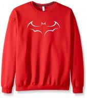 Kırmızı Batman Yarasa Sweatshirt