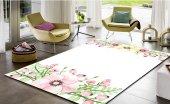 Sh 1633 3d Modern Çiçekli Salon Halısı