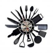 Dekoratif Ahşap Duvar Saati Mutfağınıza Özel Tasarım