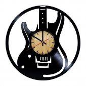 Dekoratif Ahşap Duvar Saati Guitar
