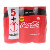 Coca Cola Şekersiz 6x250 Ml