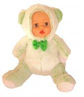 Oyuncak Bebek Peluş Kürklü Uyku Arkadaşı Ayı Kürklü 40cm Yeşil