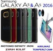 Samsung Galaxy A5 A5 2016 Kılıf Motomo Lüx Infıny Zırh + Cam