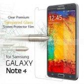 Samsung Galaxy Note 4 Ekran Koruyucu Temp Cam