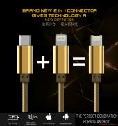 Iphone Samsung Lg Htc Ldnıo Hızlı Şarj Data Kablosu Rc30