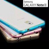 Samsung Galaxy Note 2 Kılıf Metal Bumper Çerçeve