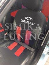 Chevrolet Siyah Kırmızı Ön Arka Koltuk Derili Kılı...