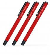 Kişiye Özel Kırmızı Metal Tükenmez Kalem (100 Adet) Model 40