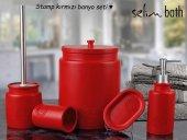 Selim Home 110 Stamp Kırmızı 5 Prç Banyo Seti
