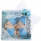 Ikiz Erkek Bebekler İçin Kokulu Sabun Ponpon Bebekler