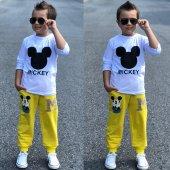 Mickey Eşofman Takımı Sarı
