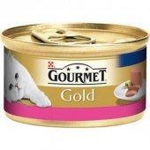 Gourmet Gold Kıyılmış Sığır Etli Yaş Kedi Maması 85gr(6 Adet)