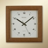 151 Aı Ceviz Kare Ahşap Duvar Saatı