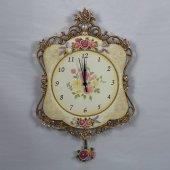15801 Gı El İşi Boyama Antik Saat