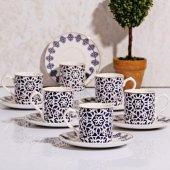 Kosova Kgp067 Silindir 6 Lı Kahve Fincan Takımı Lacivert