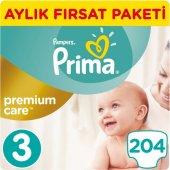 Prima Bebek Bezi Premium Care 3 Beden 204 Adet