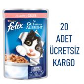 Felix Somon Balıklı Yetişkin Kedi Konservesi Pouch 100 Gr 20 Adet