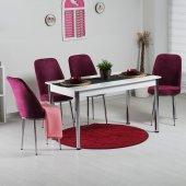 Evform Gold 4 Kişilik Mutfak Masa Takımı Masa Sandalye Takımı