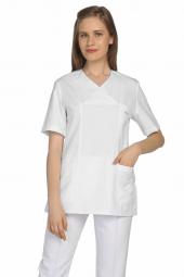 Tipmod Doktor Hemşire Forması Bayan 108 B Tek Üst Zarf Yaka Forma