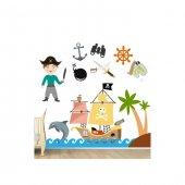 Artikel Korsan Dev Duvar Sticker Çocuk Odası Duvar Süsü