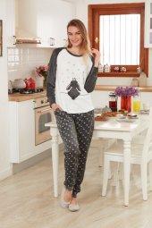 Dagi Kadın Pijama Takımı Füme Esk0218k0022fme