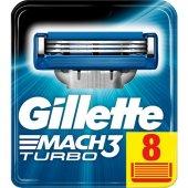 Gillette Mach 3 Turbo Yedek Tıraş Bıçağı 8li Karton Paket