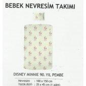 Lisanslı Dısney Mınnıe 90.yıl Pembe Bebek Nevresim Takımı 100x150