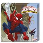 Spiderman Peçete Örümcek Adam Doğum Günü Parti Peçetesi 33cmx33cm