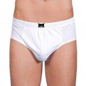 Tutku Çamaşırları 100 Pamuk Penye Erkek Kom Slip Külot Beyaz