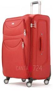 Nk 8201 4 Tekerlekli Büyük Boy Valiz Kırmızı