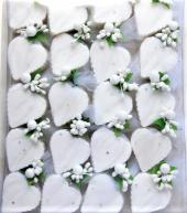 Beyaz Kalp Sabun (20 Adet)