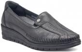 Forelli 25182 Siyah Bayan Ayakkabı Ortopedik