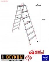 Beykon 6+6 Basamaklı Çift Çıkışlı Alüminyum Merdiven