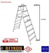 Beykon 8+8 Alüminyum Çift Çıkışlı Merdiven
